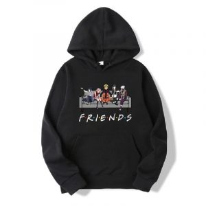 New Unisex Fashion Japanese Anime Friends Letter Printed Hoodie