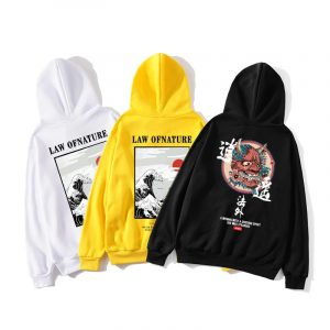 2021 New Playful Japanese The law of Natur Named Hip-Hop Hoodies