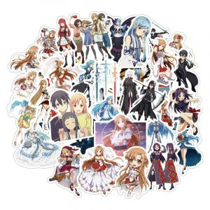 Japanese Anime Sword Art Online Hot Sale Stickers For Notebook Motorcycle Skateboard Computer Mobile Phone Cartoon