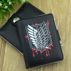 Anime Attack on Titan Survey Corps Wings of Liberty Short Wallet