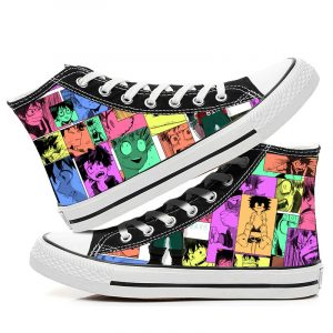My Hero Academia Cosplay Fashion Casual Graffiti High help canvas shoes