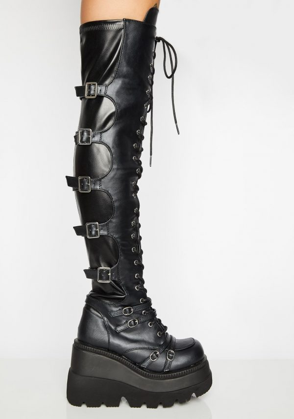 Brand Design Big Size 43 Shoelaces Cosplay Motorcycles Boots