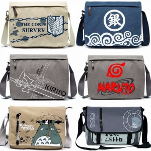 Canvas Bag Anime Sword Art Online Totoro Attack on Titan