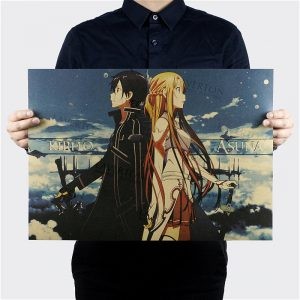 Higt Quality,Sword Art Online A Style/Japanese Cartoon Comic /kraft paper/bar poster/Retro Poster/decorative Painting