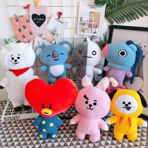 Kpop QH Plush Toys Lovely Star Support Stuffed Doll