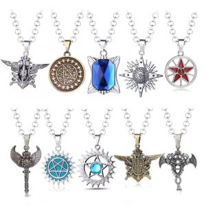 Black Butler Necklace Women Demon Eye Pendant Long Necklaces