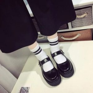Uniform Buckle Strap Mary Janes Pumps Shoes