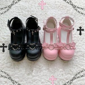 Cosplay Loli High Heel Lolita Shoes For Women