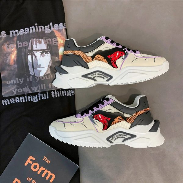 Cosplay Hip Hop Fashion Clunky Sneakers For Men Casual Shoes