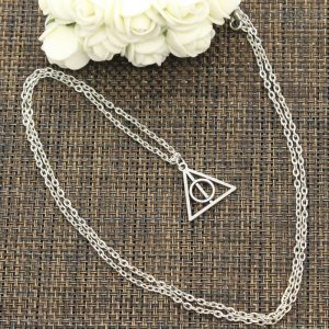 New Fashion Necklace Hallows Deathly 22x21mm Silver Color