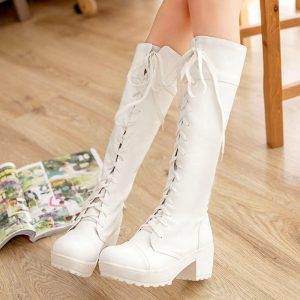 New Fashion Women's Cosplay Lacing-Up Martin Lady Shoes