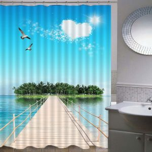 Seagull Shower Curtains Waterproof Women Bathroom Products