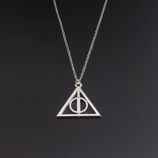 Deathly Hallows Wizard Triangle Men Lady Necklaces Pendants
