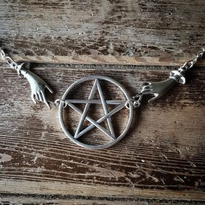 Silver color Tone Pagan Necklace Alter Inspired
